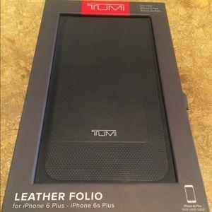 Tumi Premium Leather Wallet Folio Case iPhone 6
